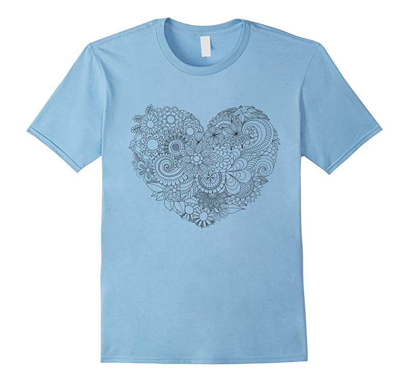 Flower Heart - Color Your Own Colorific Tees Design-RT