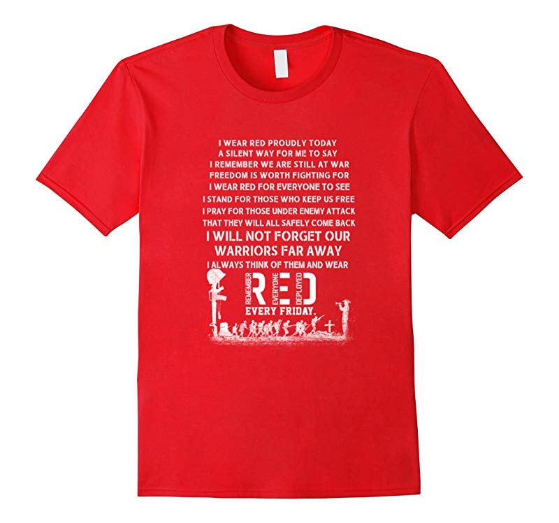 RED Friday Military Flag T-Shirt Remember Everyone Deployed-RT