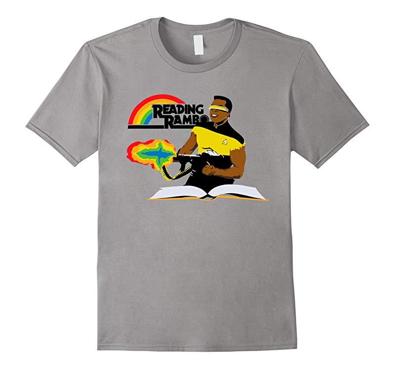 Reading Rambo T-Shirt - Funny Gift Shirt white-TD