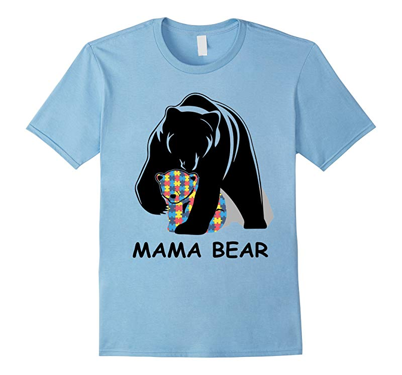 2017 Autism Awareness Mom - Mama Bear TShirt-TH