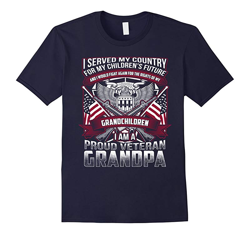Veterans T shirts - Proud veteran grandpa-RT