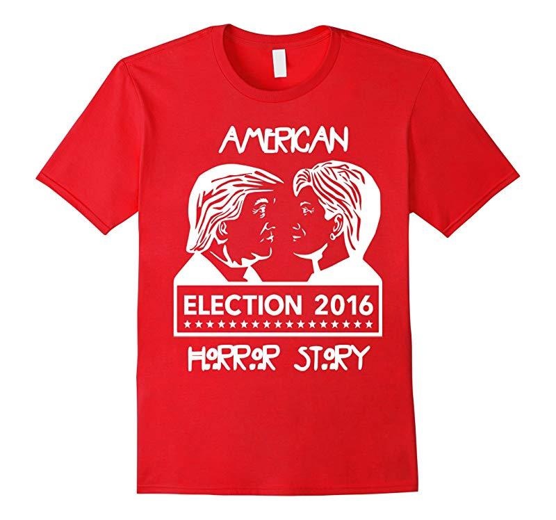 American Hor-ror Donald Trump Hillary Clinton Funny T Shirt-RT