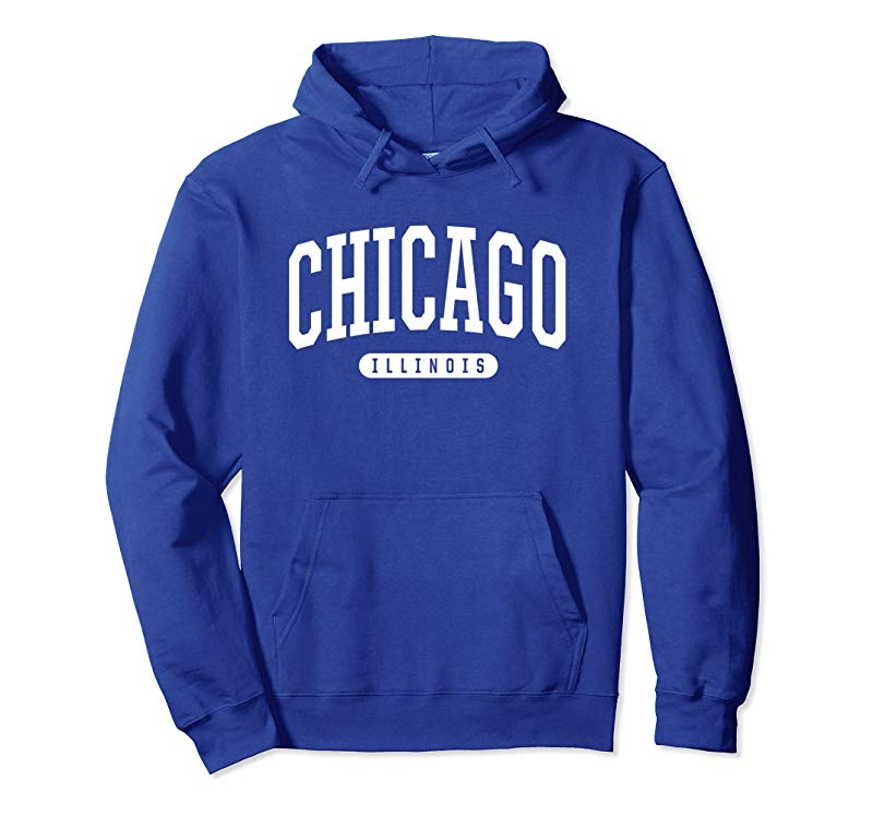 Chicago Hoodie Sweatshirt College University Style IL USA-TH