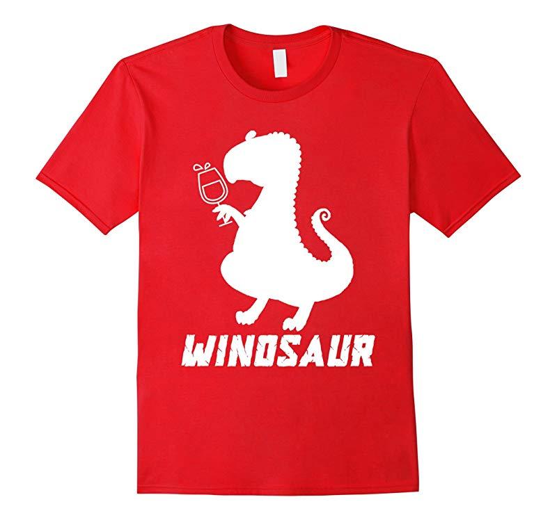 Winosaur Wine Dinosaur Funny Drinking Party Gift Shirt-RT
