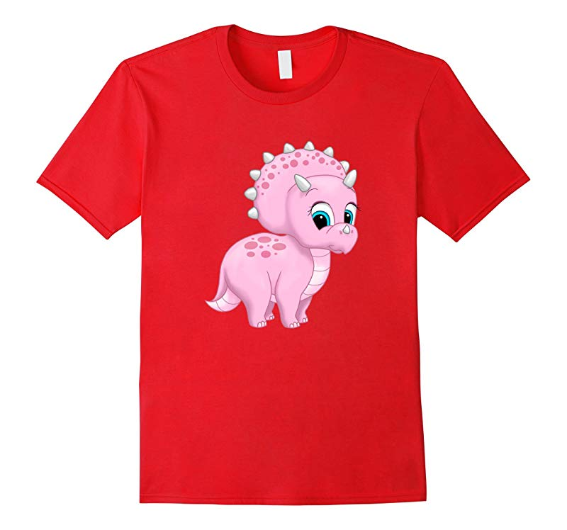 Cute Dinosaur Pink Baby Triceratops-RT