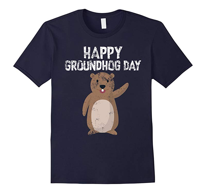 Awesome and Funny Happy Groundhog Day T-Shirt-RT