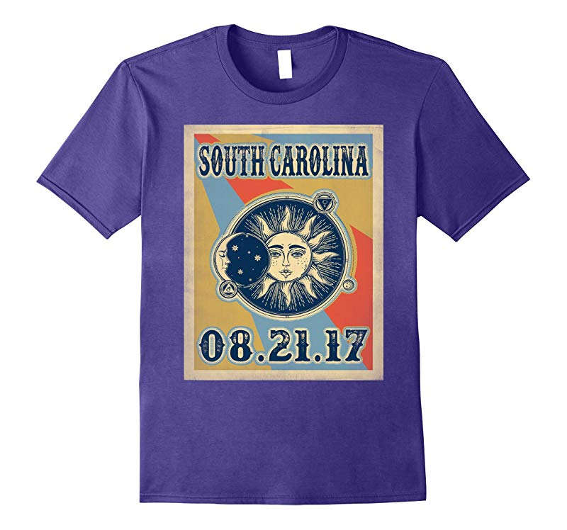 Vintage South carolina Total Solar Eclipse 2017 Tshirt-BN