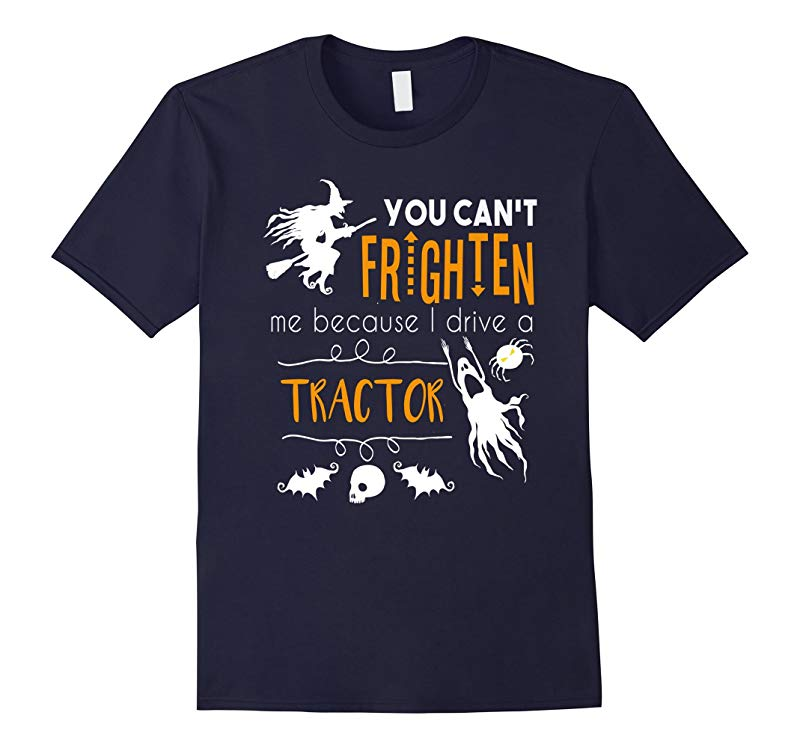 You cant frighten me tractor farming Halloween t-shirt-RT