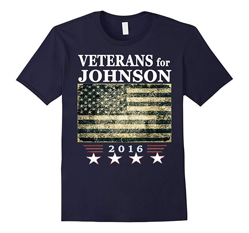 Veterans for Johnson Libertarian Shirt-RT