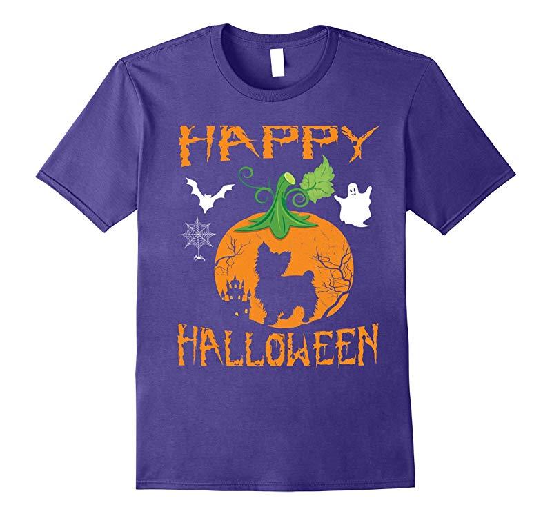 YORKIE POO Dog In Pumpkin Happy Halloween Day Funny T-Shirt-ANZ