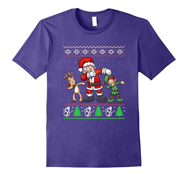 Dabbing Santa T-Shirt - Funny Santa Claus Christmas Dab Tee-ANZ
