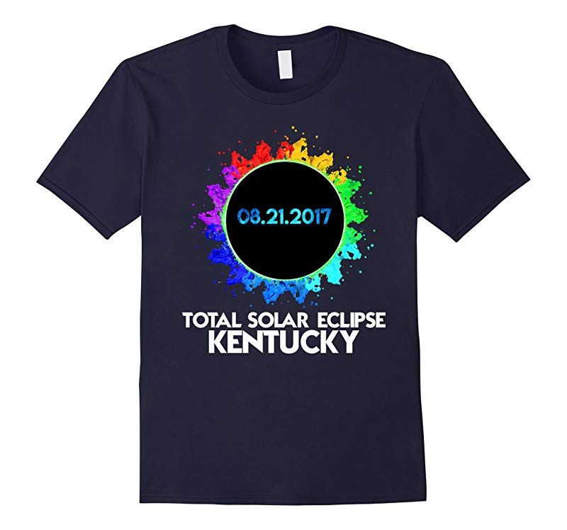 Colorful Total Solar Eclipse Kentucky 2017 T Shirt-BN