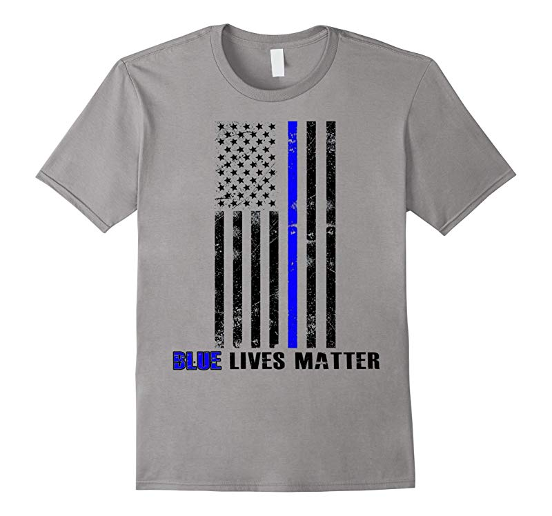 Blue lives matter Thin Blue Line Shirt Support Police-RT