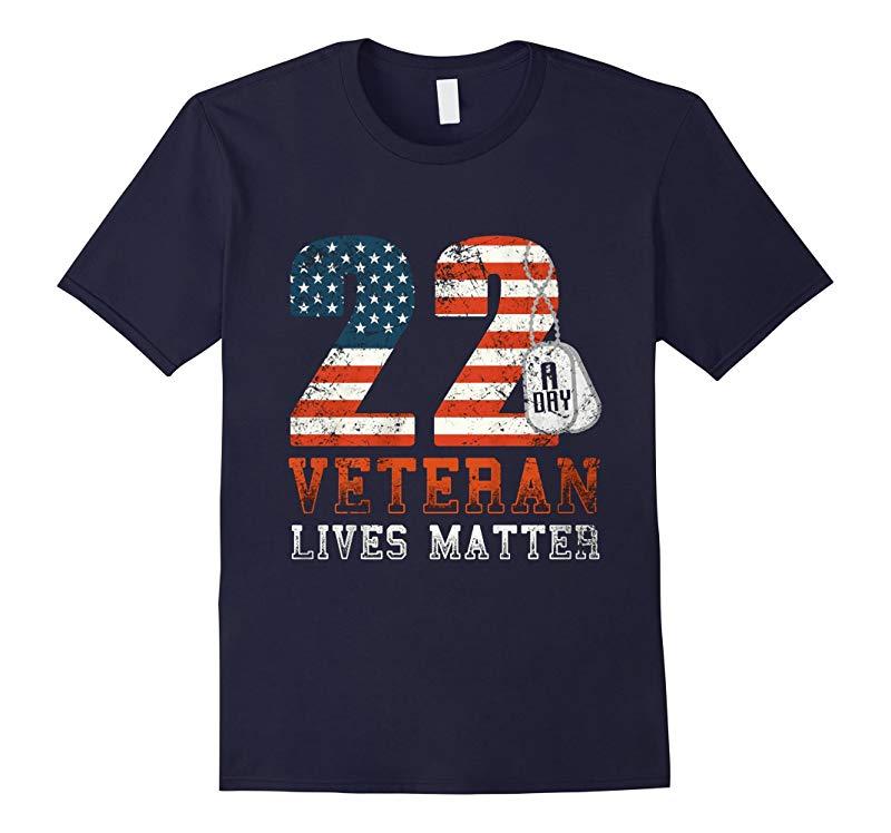 22 Push Up Challenge Veteran Lives Matter T Shirt-RT