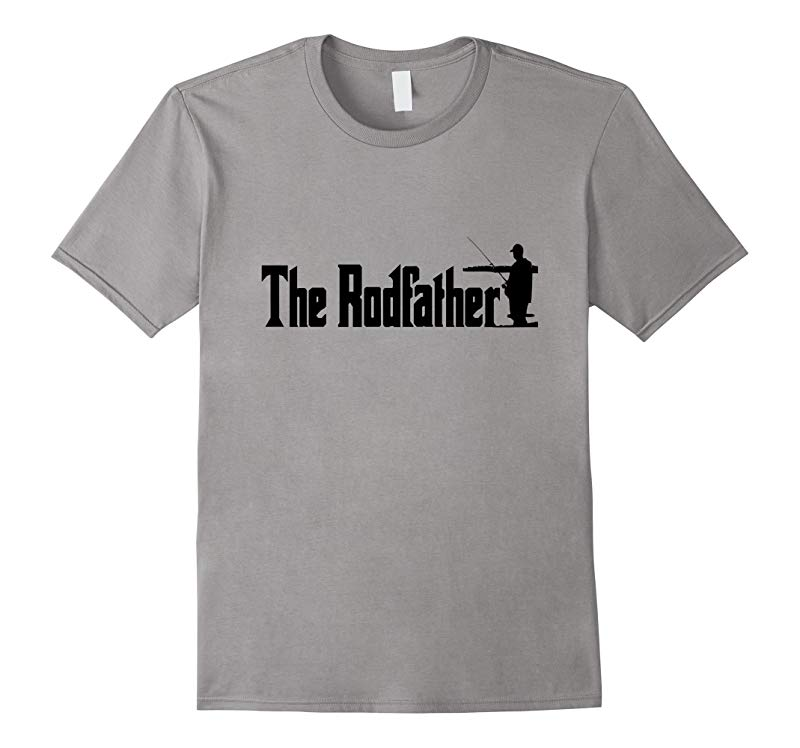 The Rodfather - Funny Fishing T Shirt for Men - Graphic-RT