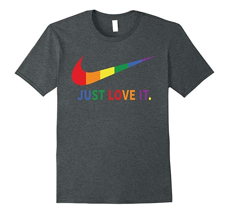Rainbow Lesbian Gay Pride Lgbt Just Love It T Shirts-PL