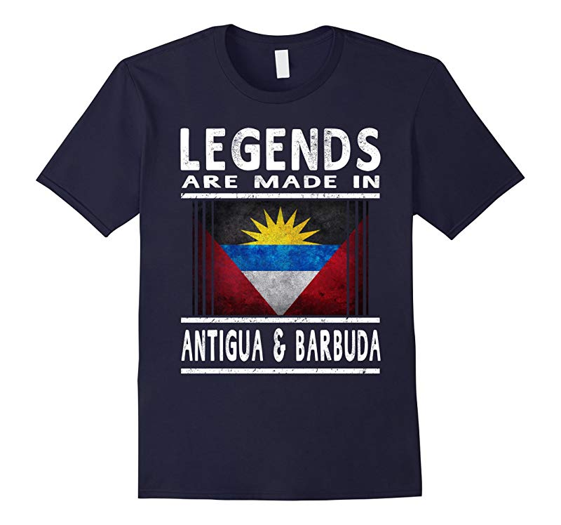 Antiguan & Barbudan Legends T Shirt: Antigua & Barbuda Flag-RT