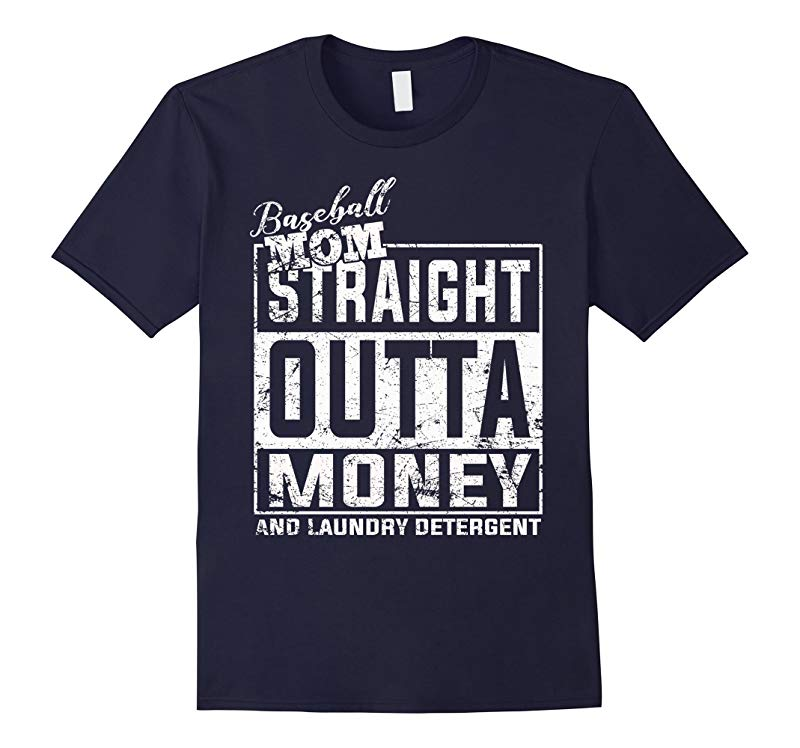 Baseball mom Straight Outta Money T-shirt-T-Shirt