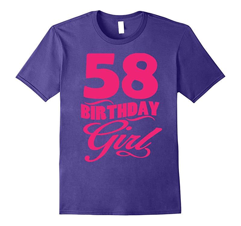 Womens 58th Birthday Girl 1959 Pink T-shirt-PL