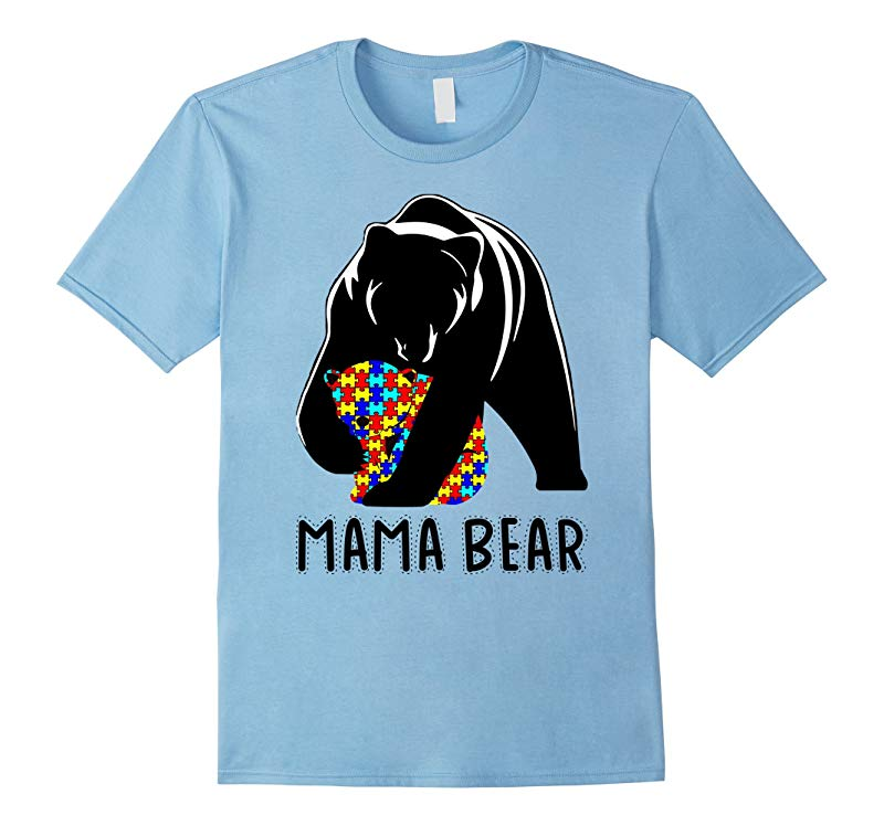 Autism Awareness Day Gifts mama Autism T-shirts color bear-RT