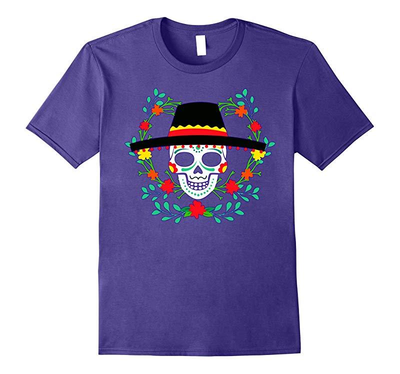 Mexican Skull Cinco De Mayo Shirt Cinco De Mayo Costume Tee-RT
