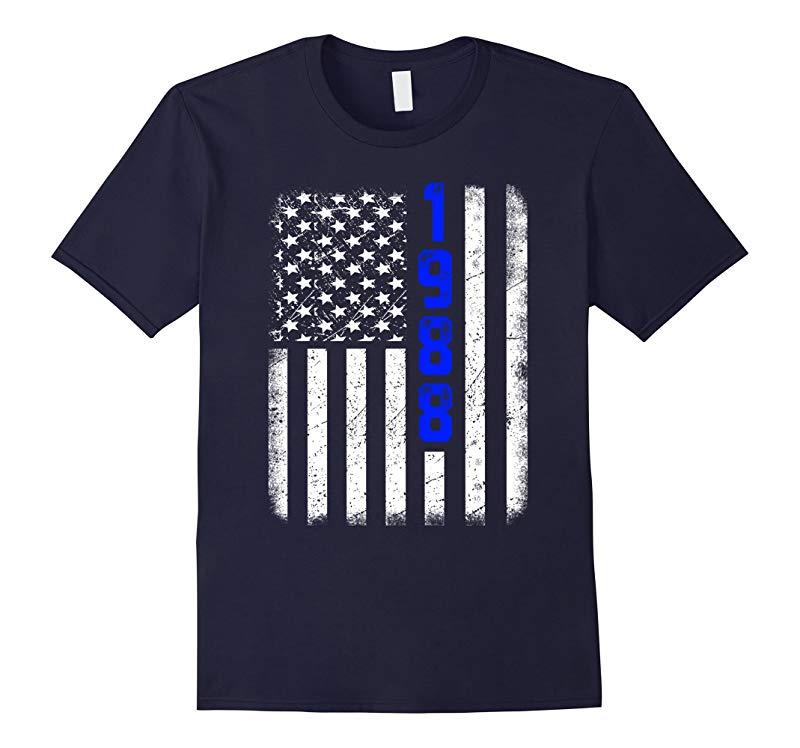 30th Birthday T-Shirt - 1988 Vintage Flag Gift Tee-RT