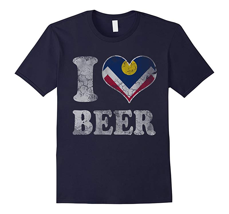 I Heart Flag of Denver Beer Colorado T-Shirt-RT