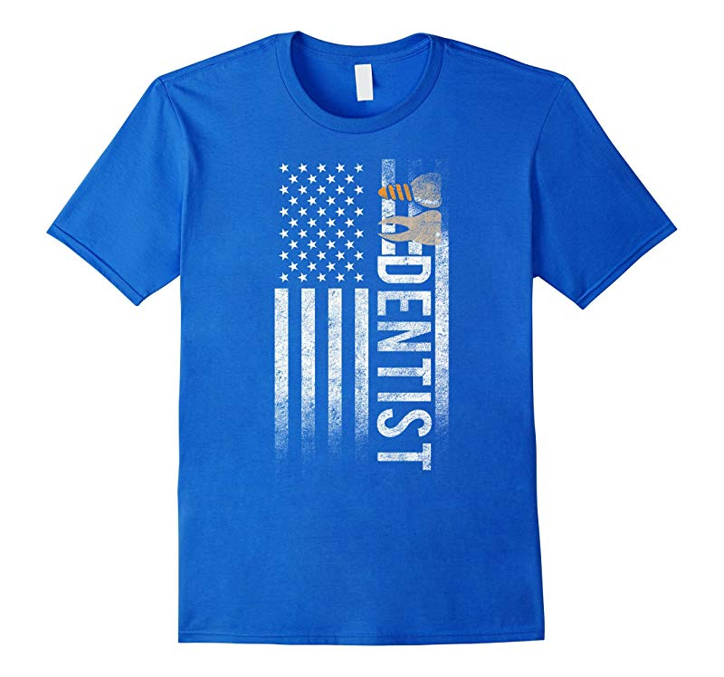 American Dentist USA Flag Hygienist Proud Freedom Tee Shirt-Art