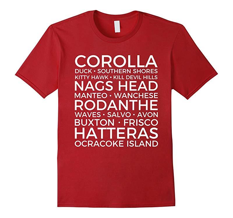 Outer Banks North Carolina Towns T Shirt OBX Souvenirs-Vaci