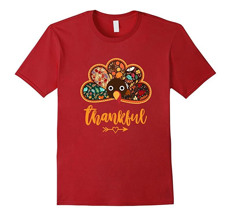 Thanksgiving Day Turkey Thankful T-shirt Fall Pattern Design-ANZ