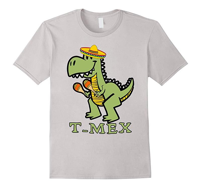 T-rex Mexican T-Mex T-shirt Cinco De Mayo-RT