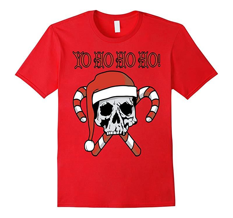 Yo Ho Ho Ho! Christmas Shirt Pirate Santa Skull shirt-ANZ