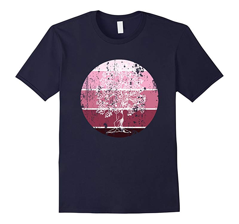 Distressed Grunge Circle Rose Aesthetic Circle Tree Shirt-TH