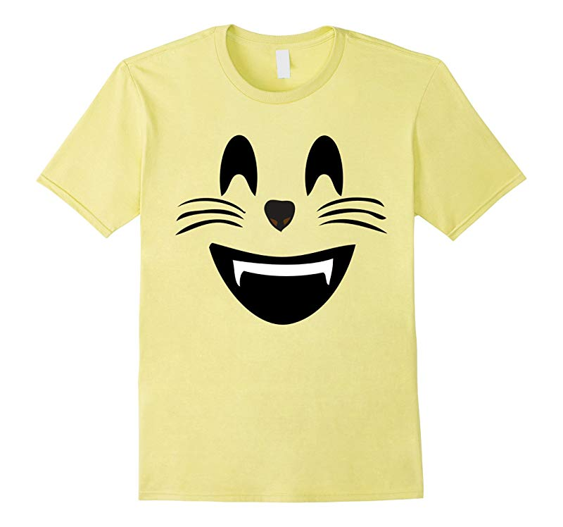 Emoji Halloween Costume Smiling Cat Face Mouth Open Emoji-RT