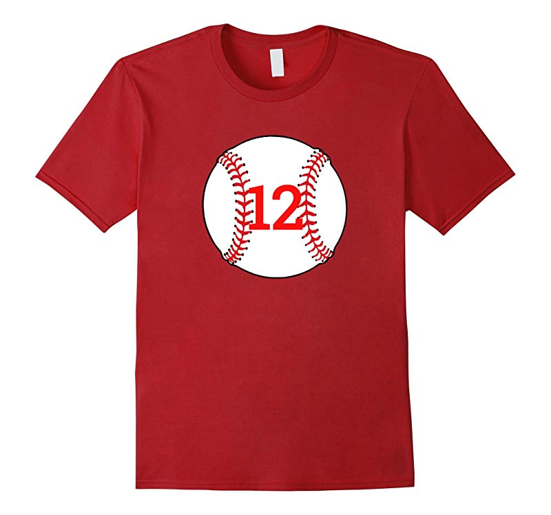 12 Birthday Baseball Birthday T Shirt-RT