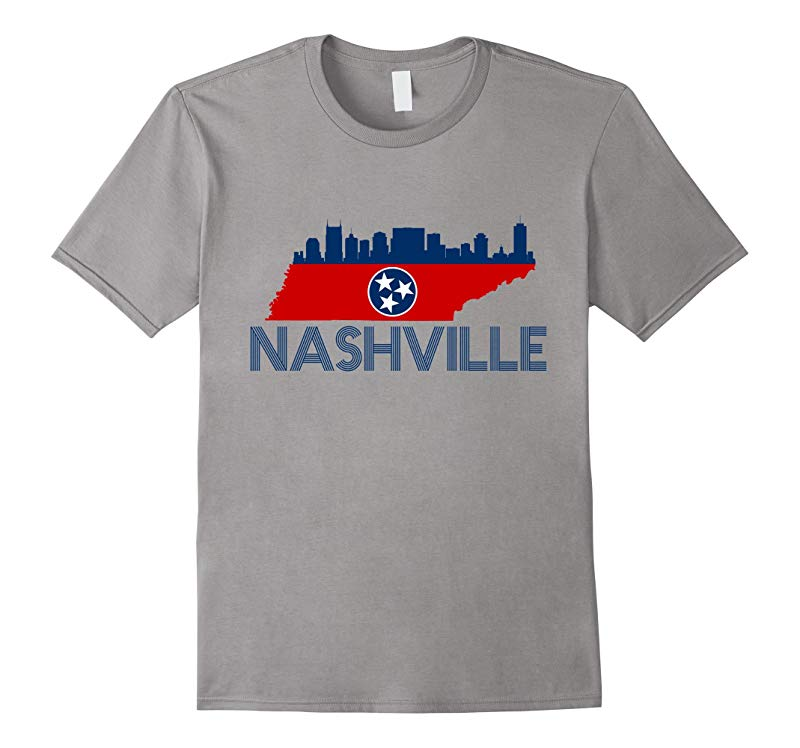 Nashville Tennessee Skyline Retro Vintage Graphic T-Shirt-RT