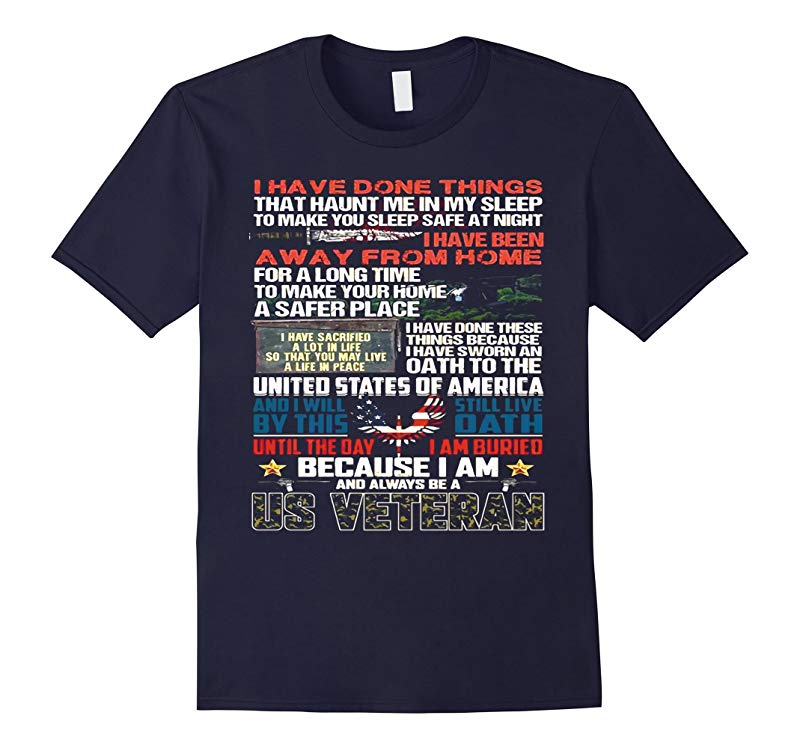 MEMORIAL DAY GIFT BECAUSE I AM US VETERAN t shirt-RT