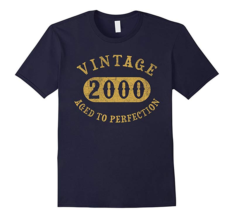 17 years old 17th Birthday B-day Gift Vintage 2000 T-Shirt-RT
