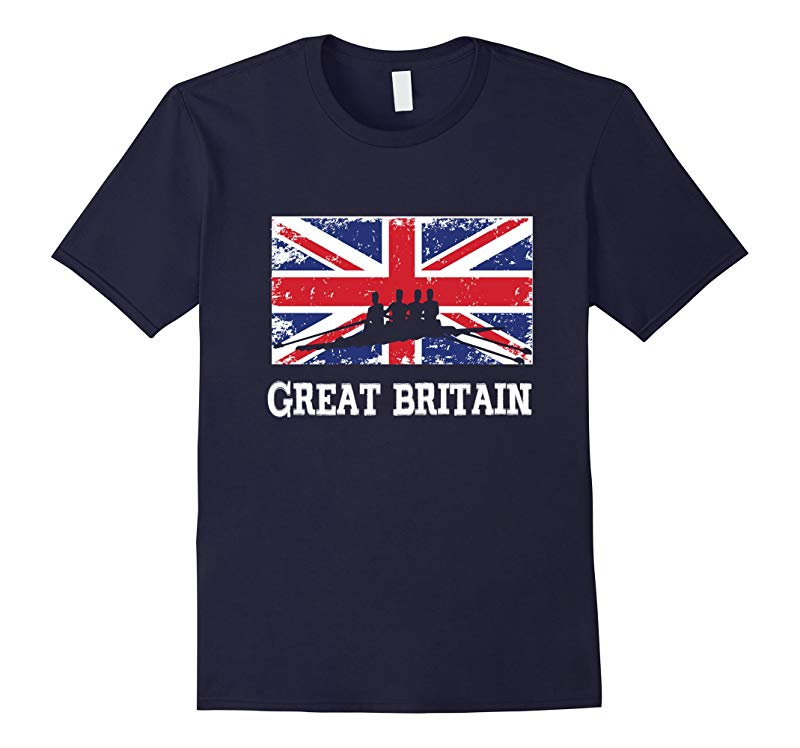 Great Britain Flag Rowing Shirt UK Gift Rowing Team-RT