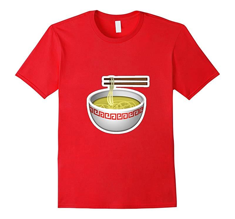 Bowl of Ramen Noodles Emoji t-shirt Japanese Soup-BN