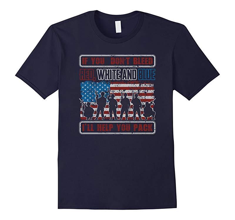 American Flag Patriotic Military Veteran T Shirt-RT