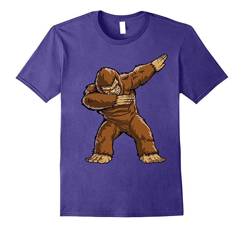 Bigfoot Sasquatch Dabbing T Shirt Funny Dab Monster Gifts-RT