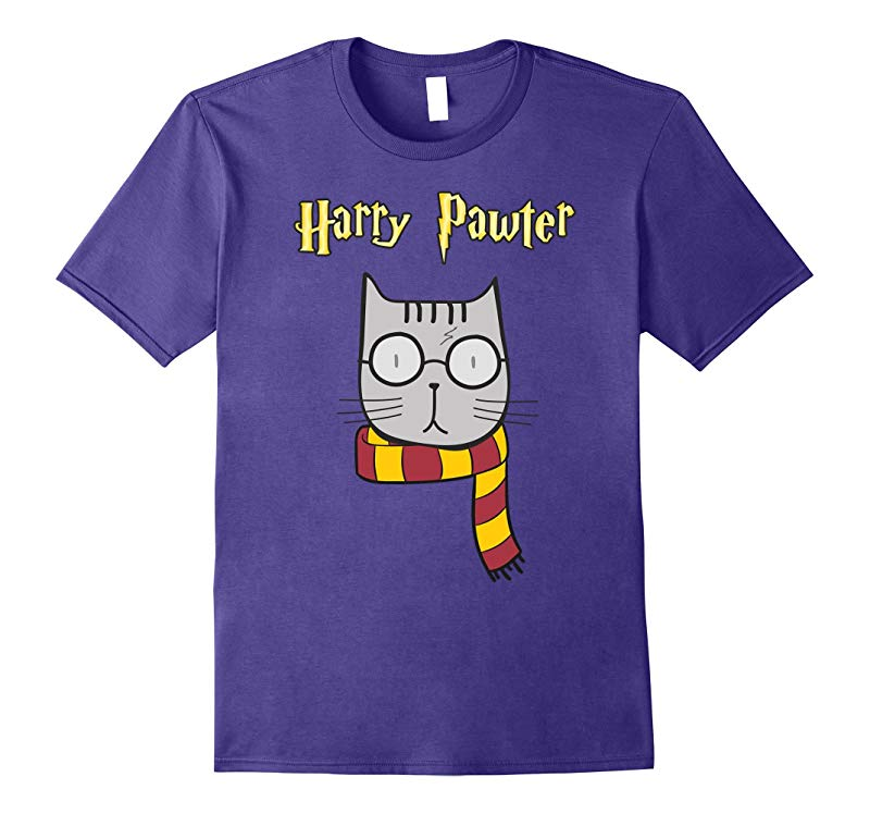 Harry Pawter Funny T-Shirt Cute Magic Cat With Glasses Gift-RT