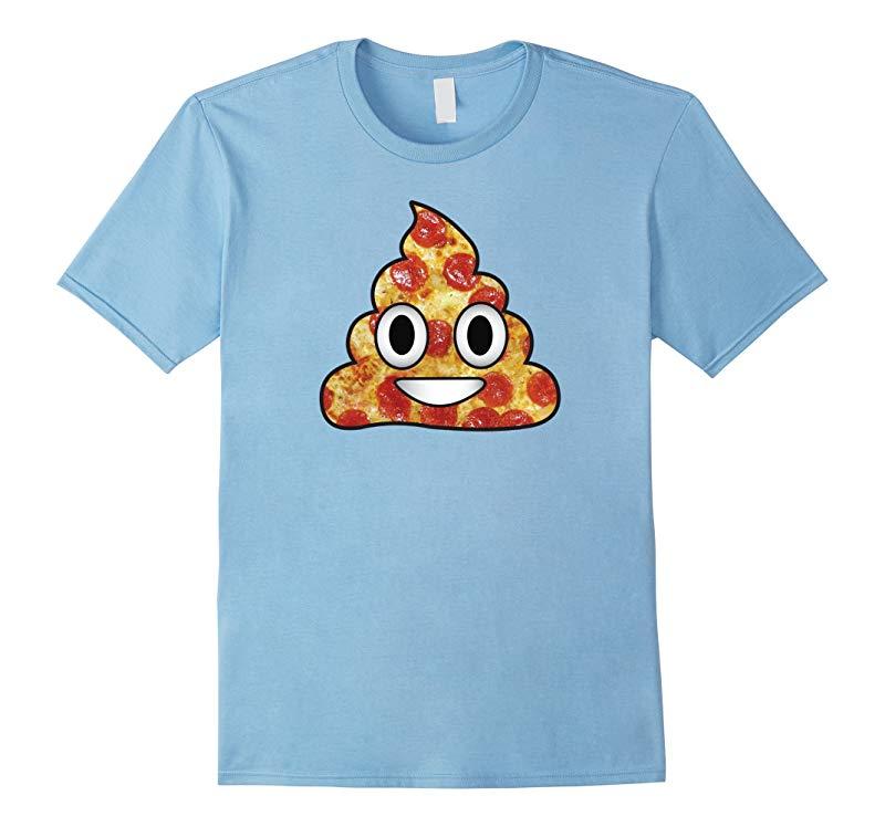 Poop Emoji Pizza Shirt for Men Women Kids Funny-BN