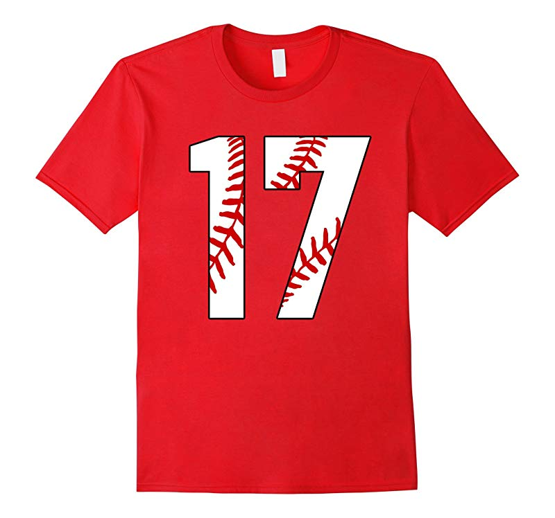 17 Baseball 17th Birthday Seventeen Baseball Mom T-shirt-RT