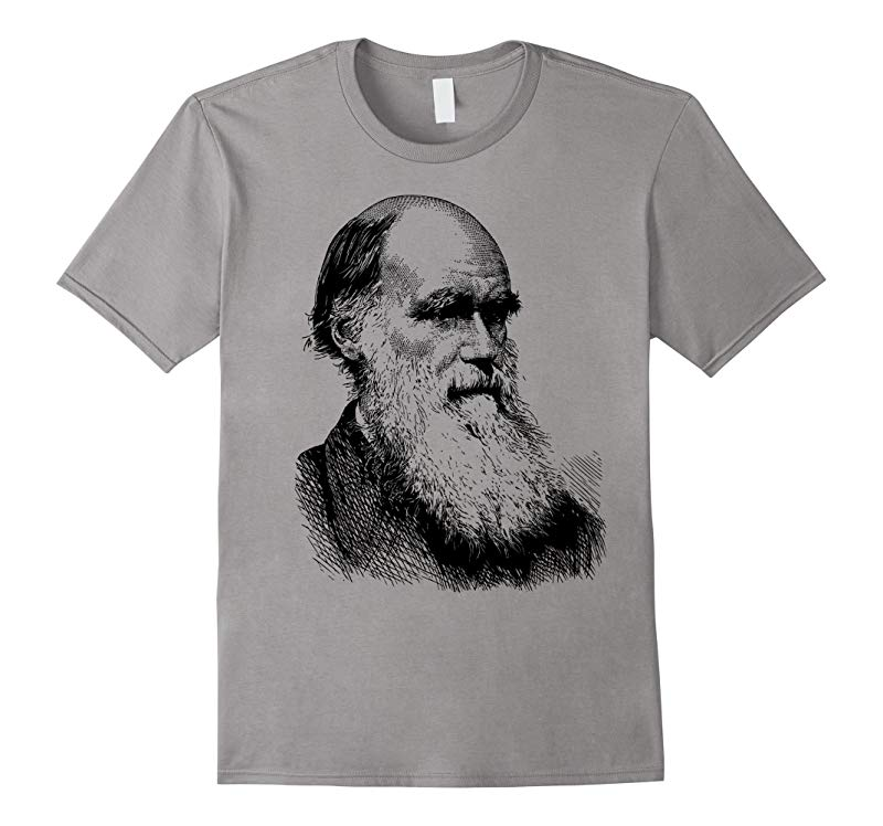 Darwin Evolution T-Shirt Charles Evolution Atheist Tee Shirt-RT
