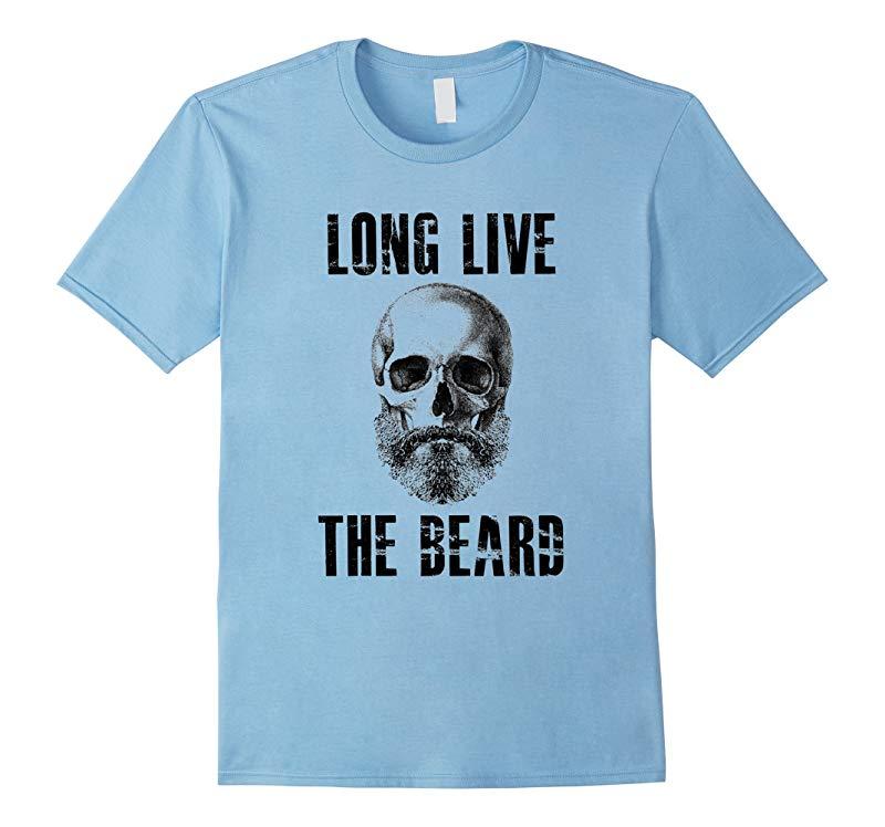Long Live The Beard T Shirt Skull Shave Men-RT