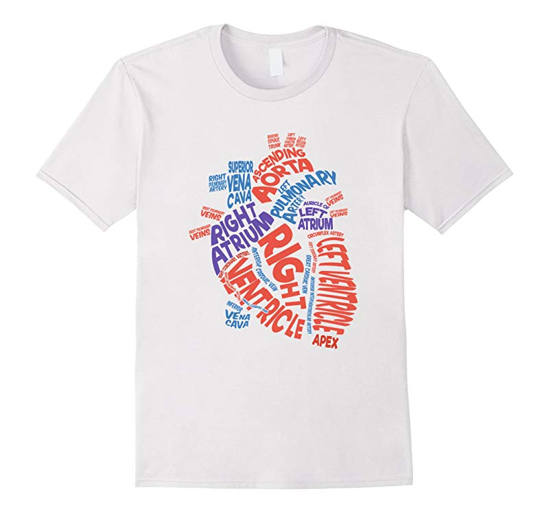 Anatomical Heart Shirt Cardiac Nurse Tshirt Parts of Heart-ANZ