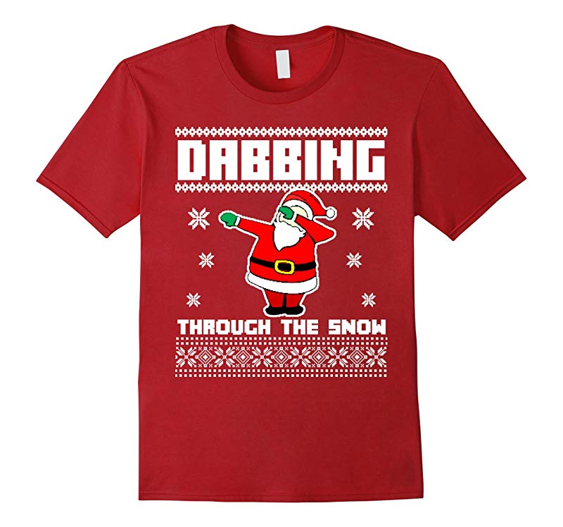 DABBING THROUGH THE SNOW T-SHIRT Ugly Christmas Santa-RT