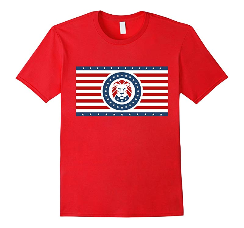 Trump Lion Party Flag T-Shirt-RT